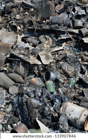 A close up of the scrap-heap. - stock photo