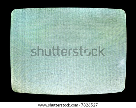 A close up on a television screen switched to a channel with poor reception. - stock photo