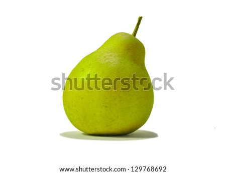 A close-up photo of a pear - isolated - stock photo