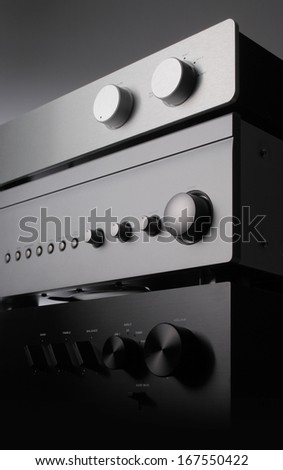 a close up photo of three receivers - stock photo