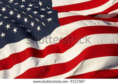 a close up picture of an american flag