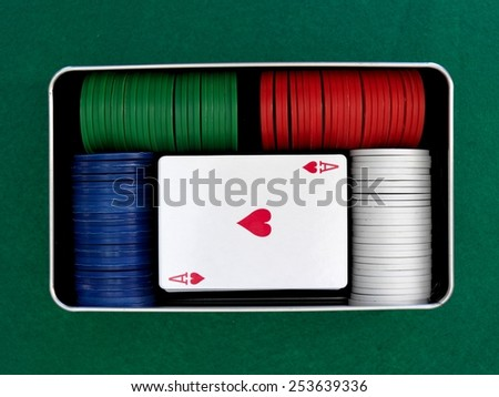 A close up shot of a card game - stock photo