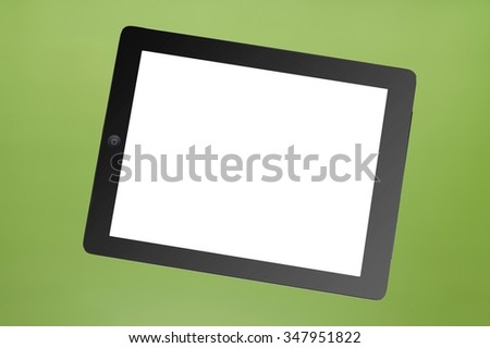 A close up shot of a computer tablet - stock photo