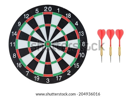 A close up shot of a Dart Board - stock photo