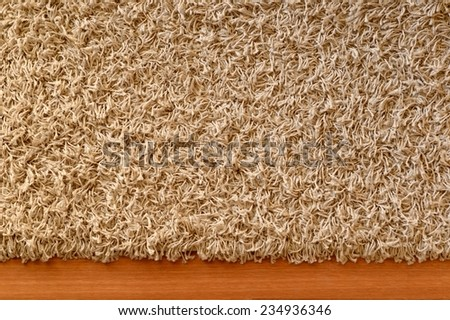 A close up shot of a floor rug - stock photo