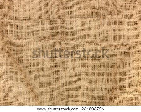 A close up shot of a hessian bag - stock photo