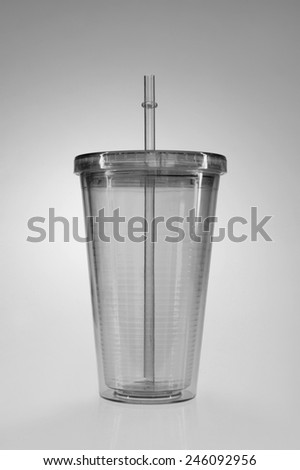 A close up shot of a retro soda cup - stock photo