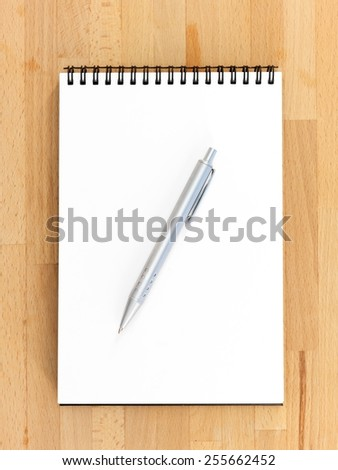 A close up shot of a stationery note pad - stock photo