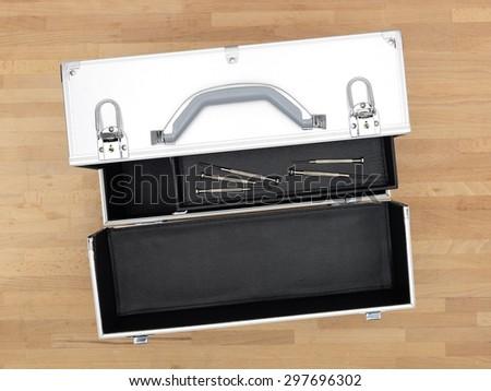 A close up shot of a tool box carry bag - stock photo