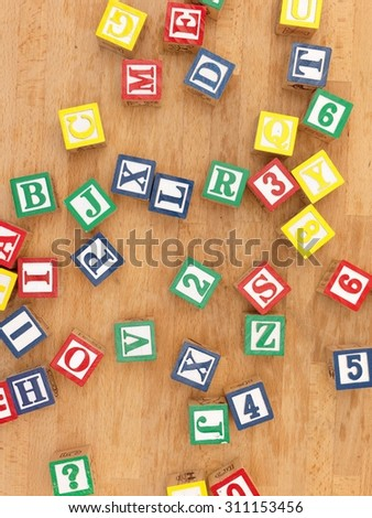 A close up shot of ABC blocks - stock photo