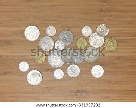 A close up shot of Australian money - stock photo