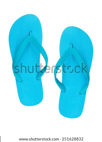 A close up shot of flip flops - stock photo