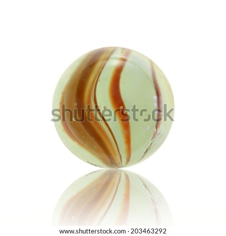 A close up shot of glass marbles
