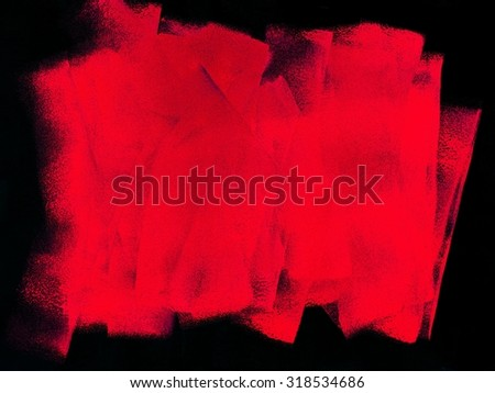A close up shot of painting equipment - stock photo