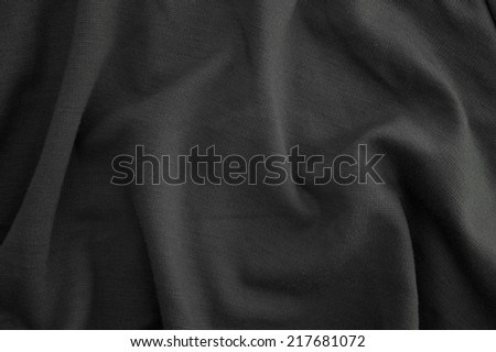 A close up shot of rumpled fabric - stock photo