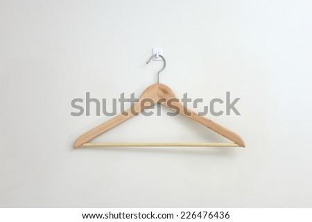 A close up shot opt a coat hanger - stock photo