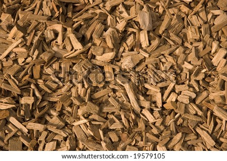 A Close View of Wood Chippings