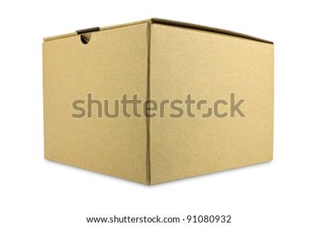 A closed cardboard box - stock photo