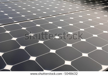 a closeup of a solar panel - stock photo