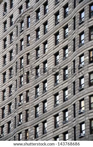A closeup shot of a building facade - stock photo