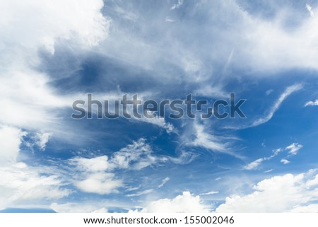 a cloud on the sky - stock photo