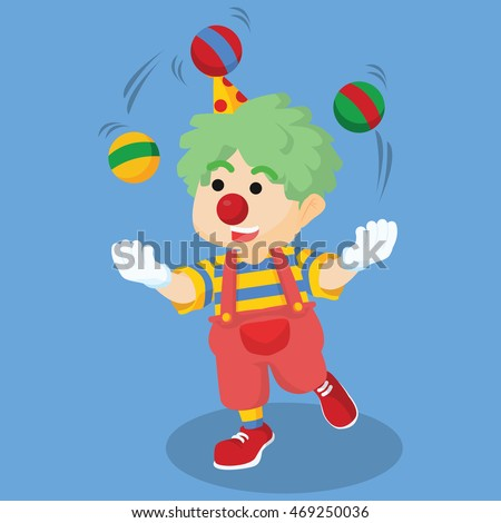 A clown juggling 're Playing