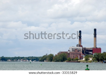 A coal burning energy plant along the Niagara river in upstate New York.