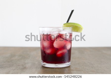 A cocktail made with vodka and pomegranate juice. - stock photo