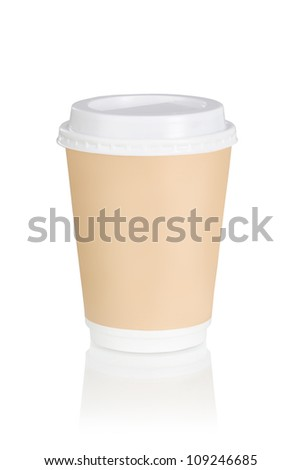A coffee cup over white background (clipping path)