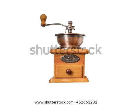 A Coffee Grinder Isolated on White Background for Business. - stock photo