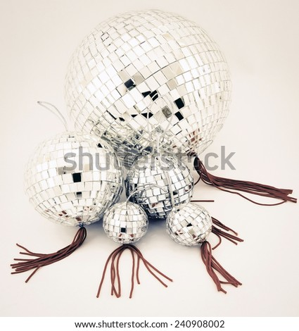 a colection of disco balls  - stock photo