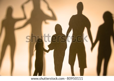 A collection of family members. - stock photo
