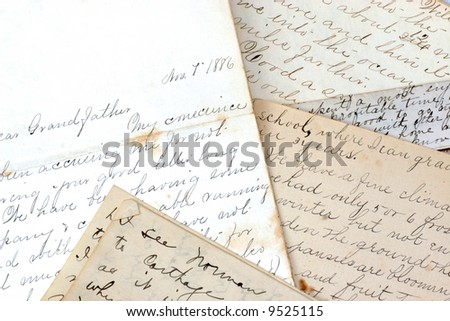 A collection of old letters from the late 1800's