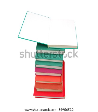 A college book pile - stock photo
