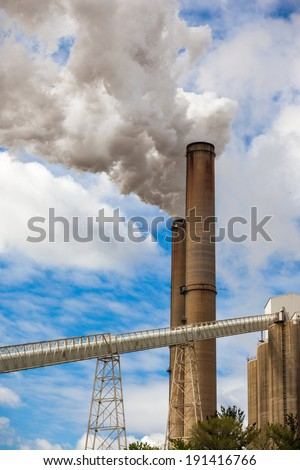 A color image of a power plant.