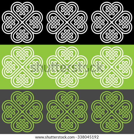 A color seamless pattern made of Celtic style knots, illustration