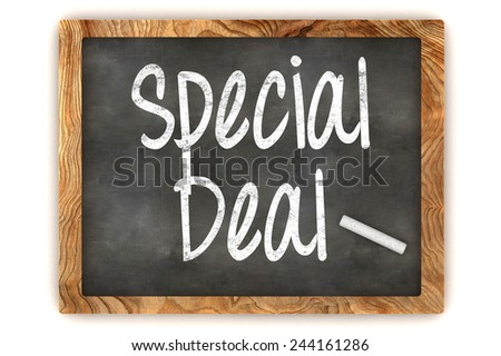 A Colorful 3d Rendered Blackboard Illustration Showing 'Special Deal' - stock photo