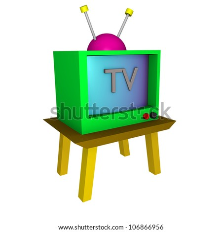 a colorful 3d tv