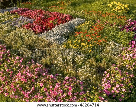 A colorful flower bed is part of Deep Cut Gardens, a Monmouth County, New Jersey park.