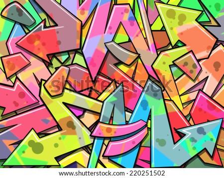 A Colorful Graffiti Background - stock photo