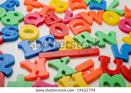 "A colorful group of plastic letters spelling the word ""learn"".  Education concept"