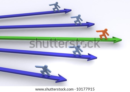 A colouful Illustration showing Success in business - stock photo