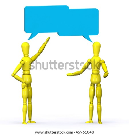A Colourful 3d Rendered Conversation Illustration - stock photo
