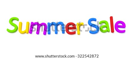 A colourful summer sale 3D image