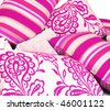 a Combination of cerise pink cushions - stock photo