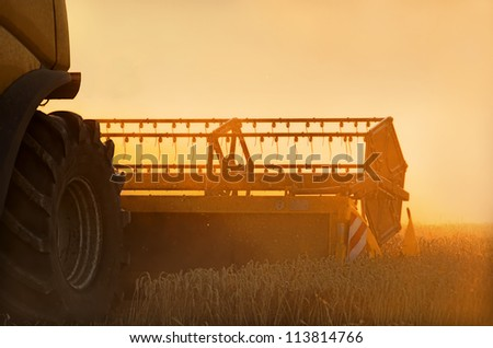 a combine harvester - stock photo