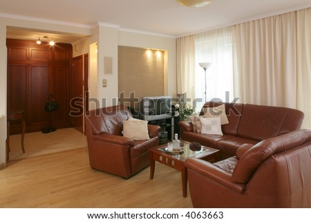 A comfortable classic livingroom - stock photo