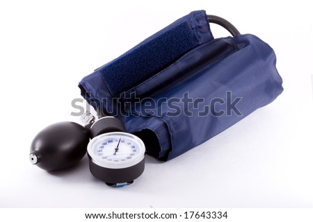 A common clinical  sphygmomanometer or tonometer - close up