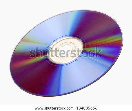 A compact disc isolated on white background.
