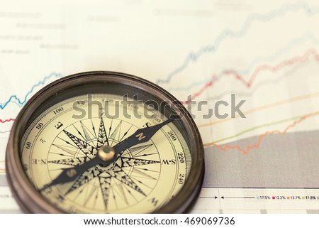 A compass on charts
